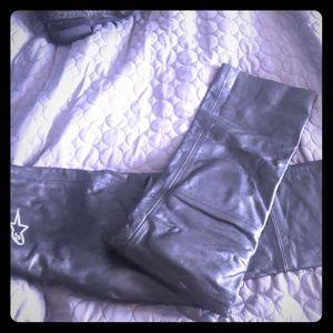 "Pants - Leather trousers bikers' Alpinestars"""